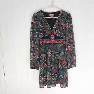 Flying Tomato Floral Paisley Embroidered Dress